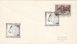 NIKOLAUS COPERNICUS, ASTRONOMER, PHILATELIC EXHIBITION, SPECIAL POSTMARK ON COVER, 1973, SWEDEN - Astrology