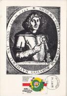 NIKOLAUS COPERNICUS, ASTRONOMER, CM, MAXICARD, CARTES MAXIMUM, 1985, SPAIN - Astrology