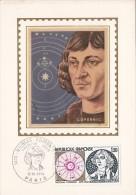 NIKOLAUS COPERNICUS, ASTRONOMER, CM, MAXICARD, CARTES MAXIMUM, OBLIT FDC, 1974, FRANCE - Astrology