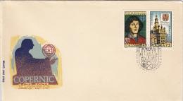 NIKOLAUS COPERNICUS, ASTRONOMER, COVER FDC, 1973, ROMANIA - Astrology