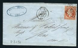 FRANCE-  LETTRE DE CAEN POUR FLERS AFF TYPE NAPOLEON A 40c  1857  A VOIR POUR ETUDE   LOT P2156 - Postmark Collection (Covers)