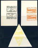 BE  E7 - E9  / E 7 - E 9   XX   ---    MNH  --  RARE   :      3 Feuillets Avec Timbres En Tête-bêche  !!! - Commemorative Labels
