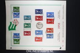 Timbres D'Europe Europa-Marken 1958 - Europa-CEPT