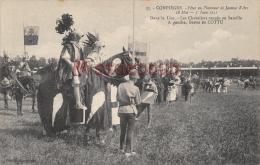 60 - COMPIEGNE - Fête En L'honneur De Jeanne D'Arc  1911 - Dans La Lice - Dos Vierge - 2 Scans - Compiegne