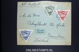 Letland / Latvia: Airmail Letter Riga Zaandam Holland , 1935