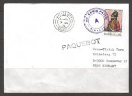 1976 Paquebot Cover, Greece Stamp Used In Belize City, Belize (9 JU) - Belize (1973-...)