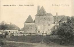 Nievre -ref A174- Verneuil - Vieux Chateau Feodal  - Carte Bon Etat  - - Autres Communes