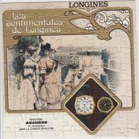 PUZZLE De 80 Pièces 21 X 21 Cm. Publicité Montres Les Sentimentales De Longines (Bijouterie AUCHERE ) - Montres Publicitaires