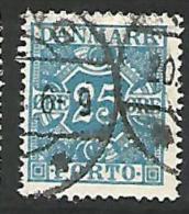 DANEMARK TAXE  N° 32  OBL TTB - Portomarken