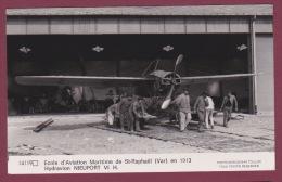 AVIATION - 280215 - PHOTO MARIUS BAR TOULON - HYDRAVION - école D'aviation Maritime De ST RAPHAEL Var 1913 NIEUPORT VI H - Avions