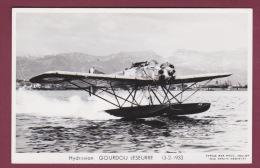 AVIATION - 280215 - PHOTO MARIUS BAR - HYDRAVION - GOURDOU LESEURRE 13.2.1933 - Autres