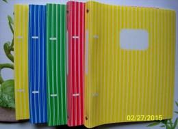 5 CAHIERS CLASSEURS NEUFS VERTS ET JAUNES PLASTIQUE SOUPLE GARNIS DE 50 PAGES 17x22 SEYES RENTREE DES CLASSES ECOLE - Andere Sammlungen
