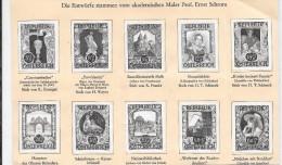 Austria. Conjunto De 10 Pruebas En Negro - 1945-60 Neufs