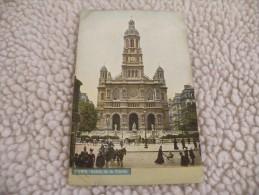 A261. CPA  75. PARIS.  Eglise De La Trinité.  Beau Plan Animé.  Non Ecrite - Churches