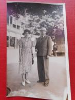 CPA CARTE PHOTO : 1939  COUPLE VOYAGEURS (DJIBOUTI-SAIGON) - Couples