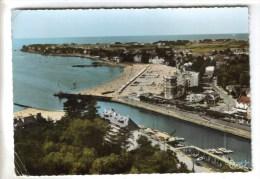 CPSM LE POULIGUEN (Loire Atlantique) - Vue Aérienne : La Plage - Le Pouliguen