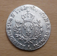 LOUIS XVI ECU AU BUSTE HABILLE 1782 L - 987-1789 Royal