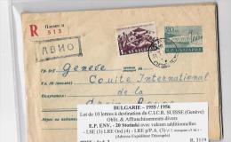 BULGARIE – 1955 / 1956Lot De 10 Lettres à Destination Du C.I.C.R. SUISSE (Genève)Oblit. & Affranchissements Di - Storia Postale