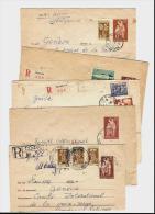 BULGARIE – 1955 / 1956Lot De 10 Lettres à Destin. Du C.I.C.R. SUISSE (Genève)Oblit. & Affranchissements Divers - Storia Postale