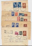 BULGARIE – 1954 / 1956Lot De 10 Lettres Recommandées à Destin. Du C.I.C.R. SUISSE (Genève)Oblit. & Affranchiss - Storia Postale