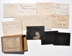 Lot De 11 Négatifs PHOTOS Sur PLAQUES De VERRE : LAEKEN 1913, PARIS, Tour Eiffel 1914, Etc. - Plaques De Verre