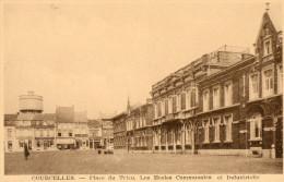 Courcelles, Place Du Trieu. Ecoles. - Courcelles