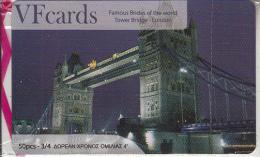 GREECE - London, Tower Bridge, VF Promotion Prepaid Card, Tirage 50, Mint - Landschappen