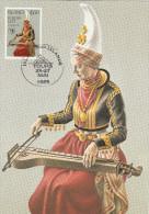 ISLANDE    THEME MUSIQUE   EUROPA N° 585  ET  586 - Cartes-maximum