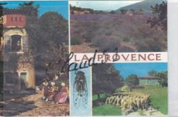 Folklore :La Provence -pigeonnier Provençal,champ De Lavande,Troupeau De Moutons,costumes - Folklore