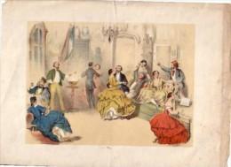 Gravure originale en couleur de 1850 environ � situer, gravure venant d'Autriche-Hongrie 31 x 22 cm, bords en �tat d'�ta