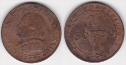 VATICAN : 1 SOLDO 1867 An XXI Bronze  (voir Scan) - Vaticano