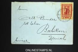 Austria : Levant Smyrna To Zürich, 2 Piaster , Ferchenbauer Cat Value €  150, 1909 - Oriente Austriaco