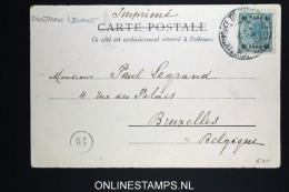 Austria : Levant  Picture Postcard Constantinople To Brussels, 1904.  Derviches Tourneurs - Oriente Austriaco