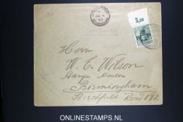 Germany : Levant Cover From Constantinopel  To Birmingham UK 1905