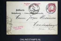 Germany : Levant Nürnberg To Constantinopel  1887 Nice Cancel