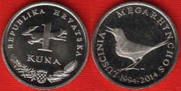 "Croatia 1 Kuna 2014 ""20th Ann. Of Kuna Currency"" UNC - Croatia"