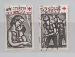 FRANCE N° 1323 Et 1324 (o) (YT) CROIX ROUGE 1961 OEUVRES DE ROUAULT - France