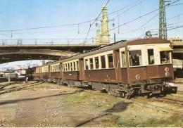 Nº24 POSTAL DE ESPAÑA DE UN AUTOMOTOR ELECTRICO SERIE 349-378  (TREN-TRAIN-ZUG) AMICS DEL FERROCARRIL - Trenes