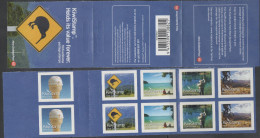 NEW ZEALAND, 2013, KIWI STAMPS, BOOKLET, ICE CREAM, MOUNTAINS, FISHING, BEACHES, BIKES, CYCLING, - Alimentazione