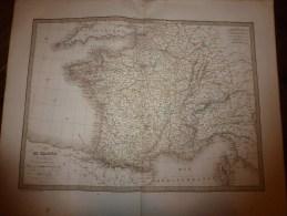 1829 Carte  FRANCE Départ. Et Div. Militaires, Par Lapie 1er Géographe Du Roi, Grav.Lallemand ,Chez Eymery Fruger & Cie - Geographical Maps