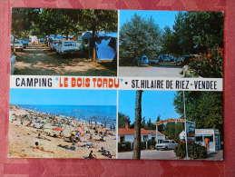 """Dep 85 , Cpm  Saint HILAIRE De RIEZ , Camping """"Le BOIS TORDU"""" , Multivues , Plage , Ombrages , Confort (190) - Saint Hilaire De Riez"""
