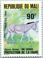 N° Michel 744 (N° Yvert 359) - Timbre Du Mali (MNH) (1980) - Equus Asinus (JS) - Malí (1959-...)