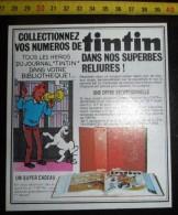 DOCUMENT HERGE TINTIN BELLES RELIURES - Alte Papiere