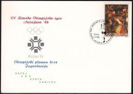 "Yugoslavia 1984, Illustrated Cover""Winter Olympic Games In Sarajevo 1984"" W./special Postmark ""Senta"" Ref.bbzg - 1945-1992 Socialist Federal Republic Of Yugoslavia"