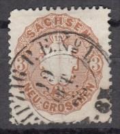 Sachsen 3 Ngr. Staatswappen 1863 - Zentrisch 2 Kreis Leipzig P.E. No. 1 - Sachsen