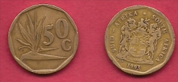 SOUTH AFRICA, 1993, 3 Off Nicely Used Coins 50 Cent C2074 - South Africa