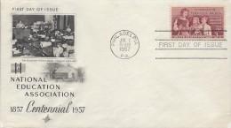 USA SCHOOL TEACHERS Sc 1093 FDC 1957 - Ersttagsbelege (FDC)