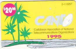 BAHAMAS ISL.(chip) - CANTO(Caribbean Association Of National Telecommunications Organizations)(BAH C10), Chip GEM1, Used - Bahamas