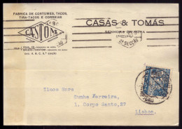 Postal Comercial Publicidade: FABRICA De CORTUMES Senhora Da Hora - PORTO. Old Postcard FACTORY Portugal - Porto