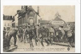 """CPA Militaria 77 : Les Troupes Anglaises Chassent Les Allemands De La Ferté Gaucher ( Extrait De """" En Plein Feu"""") - Guerre 1914-18"""
